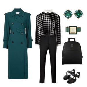 Bluish Green Outfit