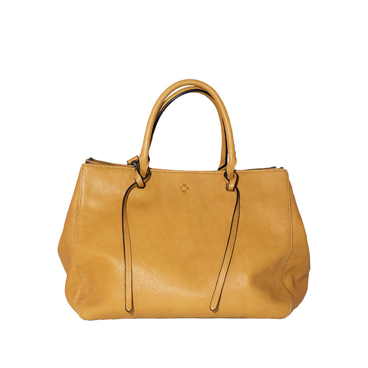 Brown Nappa Leather Tote Bag including a Removable Shoulder Strap