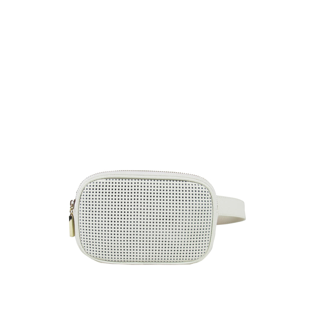 ALEXANDRA PERFORATED BELT BAG
