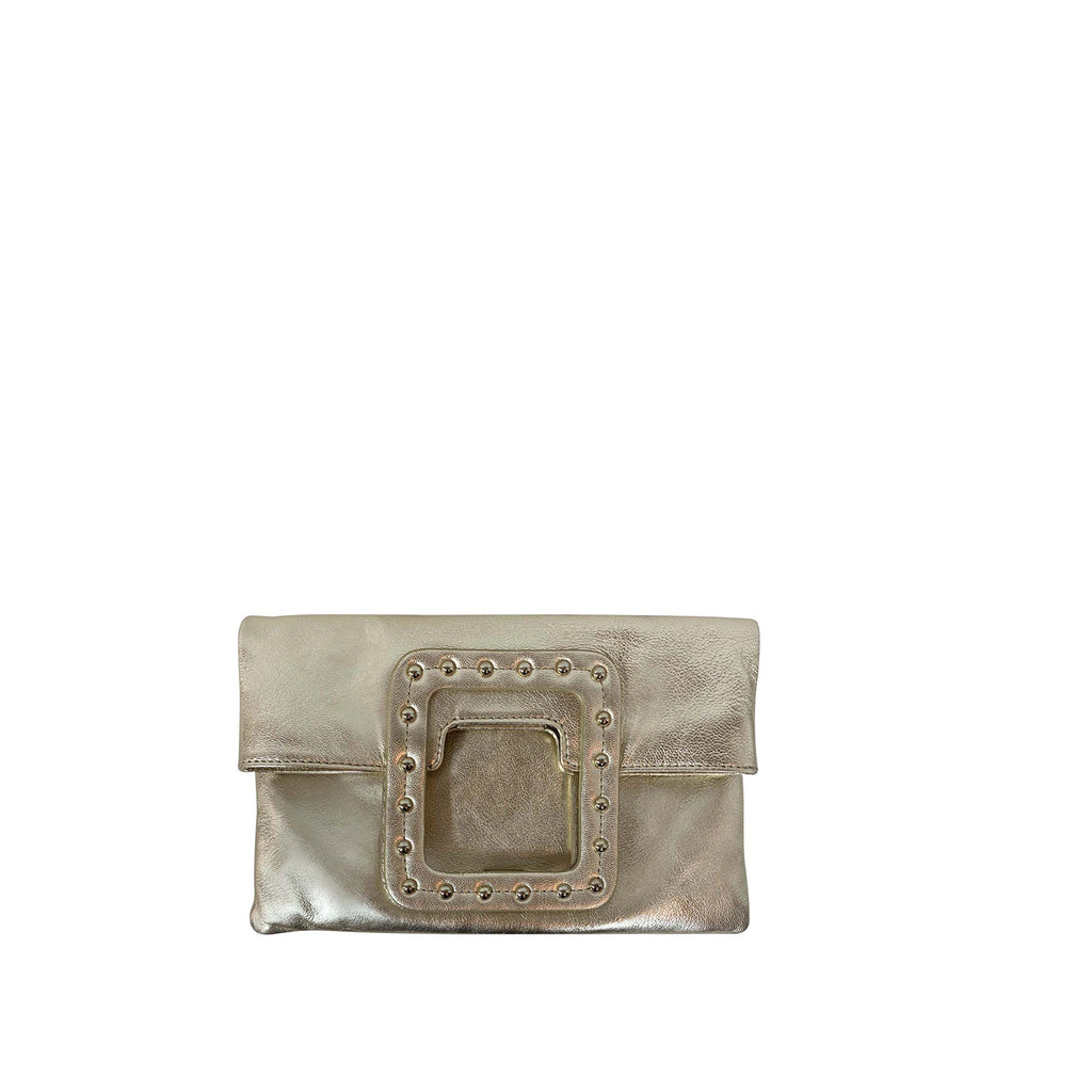 MATEO STUDDED FOLDOVER CLUTCH & CROSSBODY
