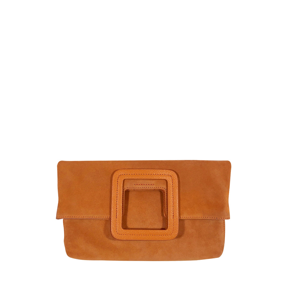 MILO SUEDE FOLD OVER CLUTCH & CROSSBODY