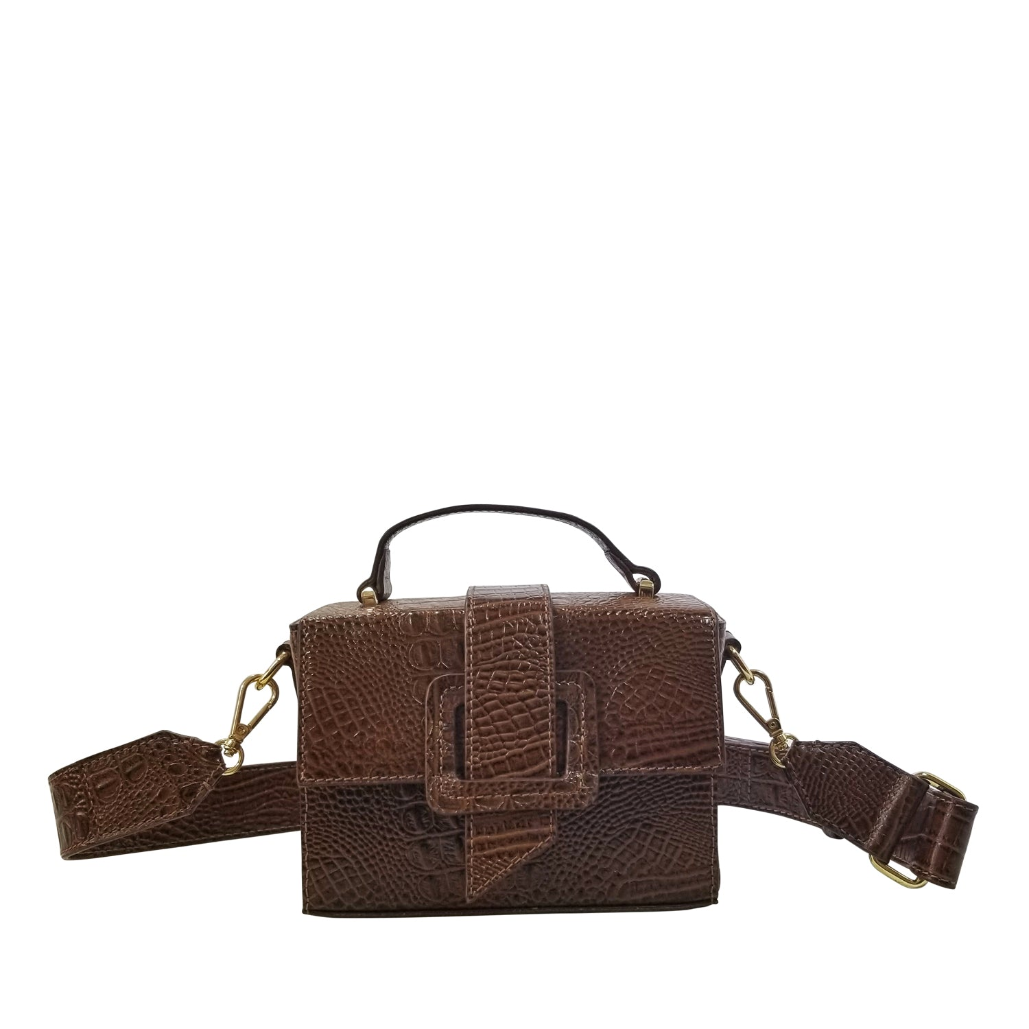 MITCH CROCO BOX BAG