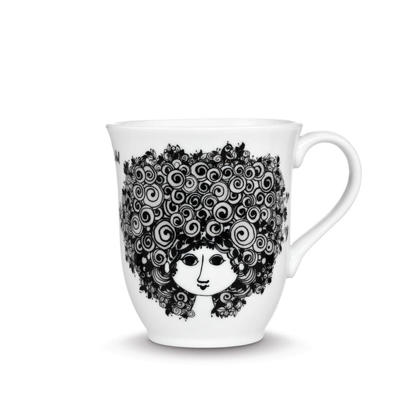 Mug, Rosalinde - Black, 11.8 oz
