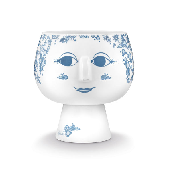 Flower Pot w/Foot, Juliane - Dusty Blue, 7""