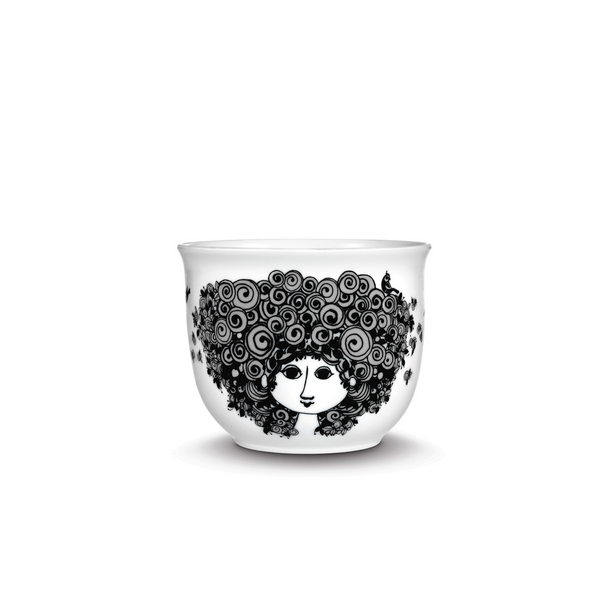 Flower Pot, Rosalinde - Black 4.2""
