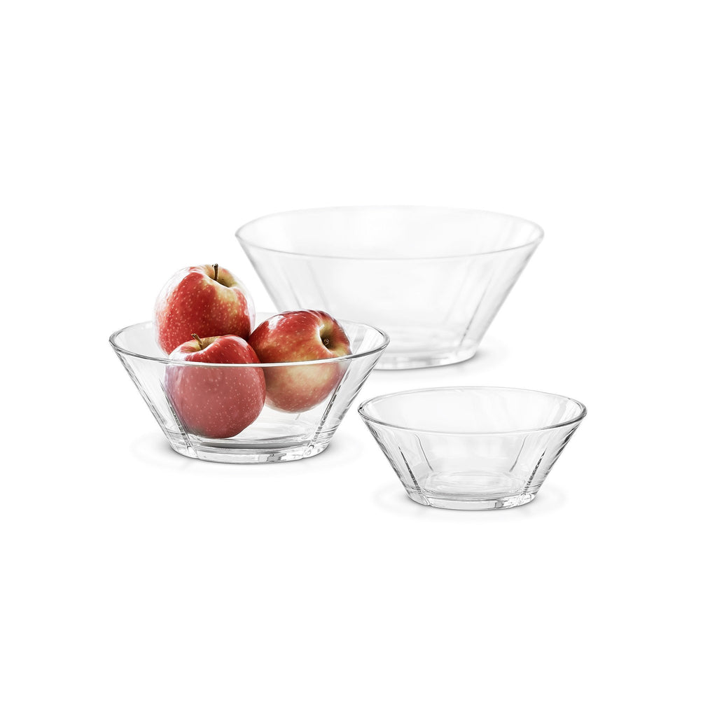 Grand Cru Set of Glass Bowls, 3 Sizes