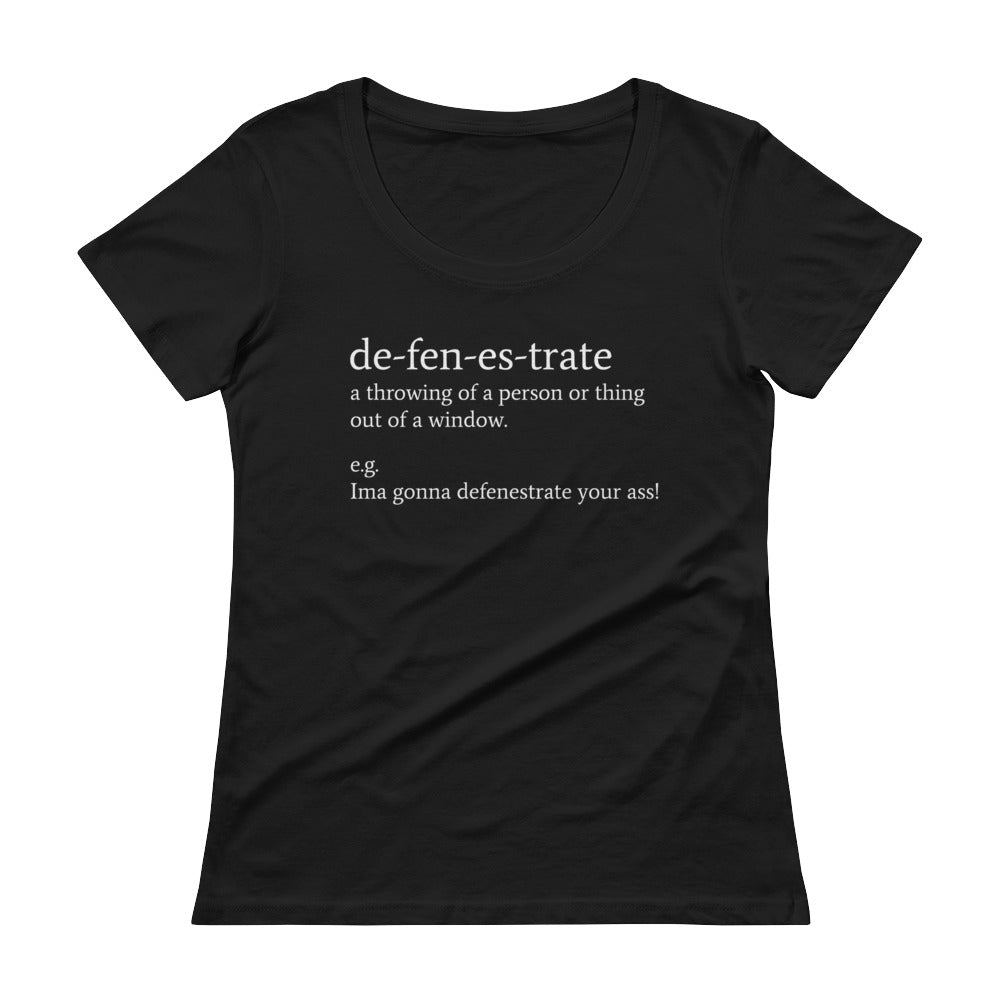 Defenestrate - Ladies' Scoopneck T-Shirt