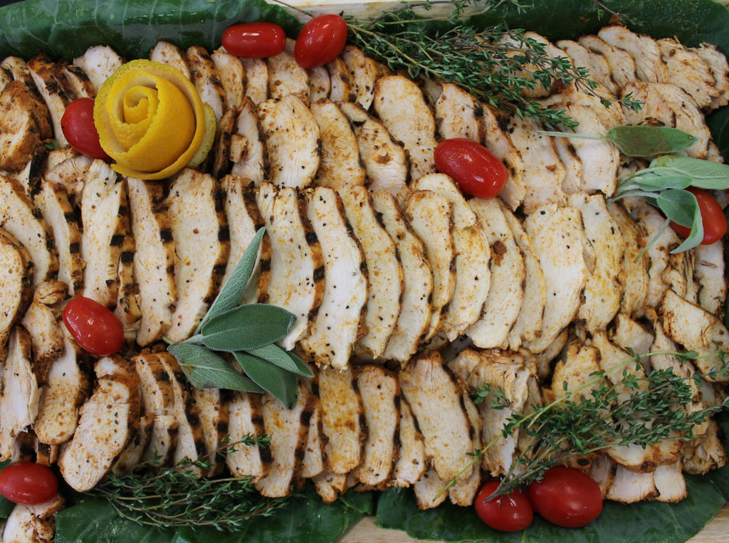 Grilled, Sliced Chicken Breasts