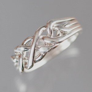 4-Band 12-Gauge Sterling Silver Puzzle Ring