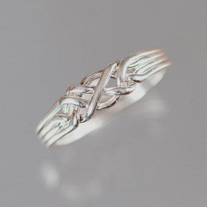 4-Band 16-Gauge Sterling Silver Puzzle Ring