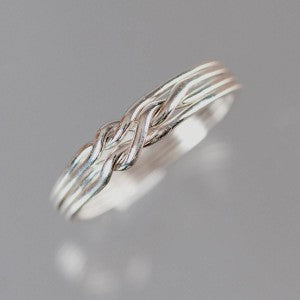 4-Chain 16-Gauge Sterling Silver Puzzle Ring
