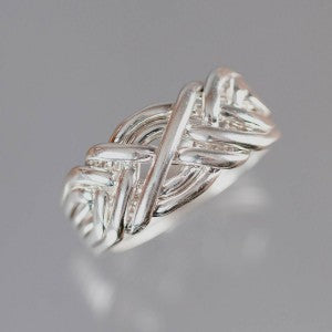 6-Band 12-Gauge Sterling Silver Puzzle Ring