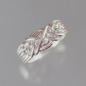 6-Band 16-Gauge Sterling Silver Puzzle Ring