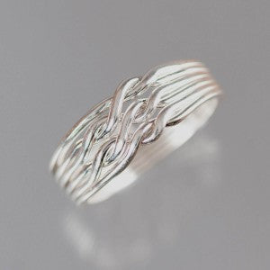 6-Chain 16-Gauge Sterling Silver Puzzle Ring