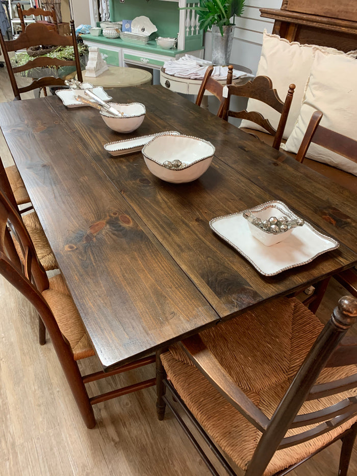 Farm Table with 8 Chairs