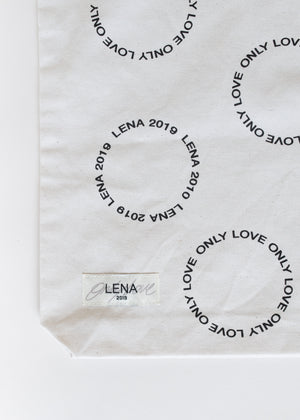 Lena - ONLY LOVE Beutel Weiss