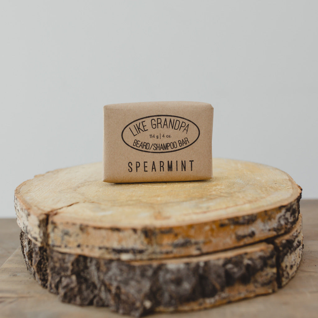 Spearmint scented Shampoo Bar. All-natural and healthy.
