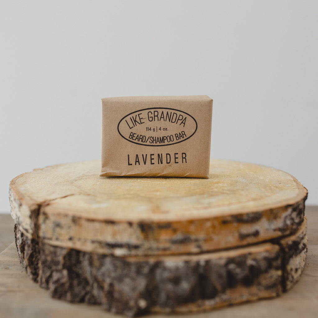All-natural Shampoo Bar for hair or beard. Lavender.
