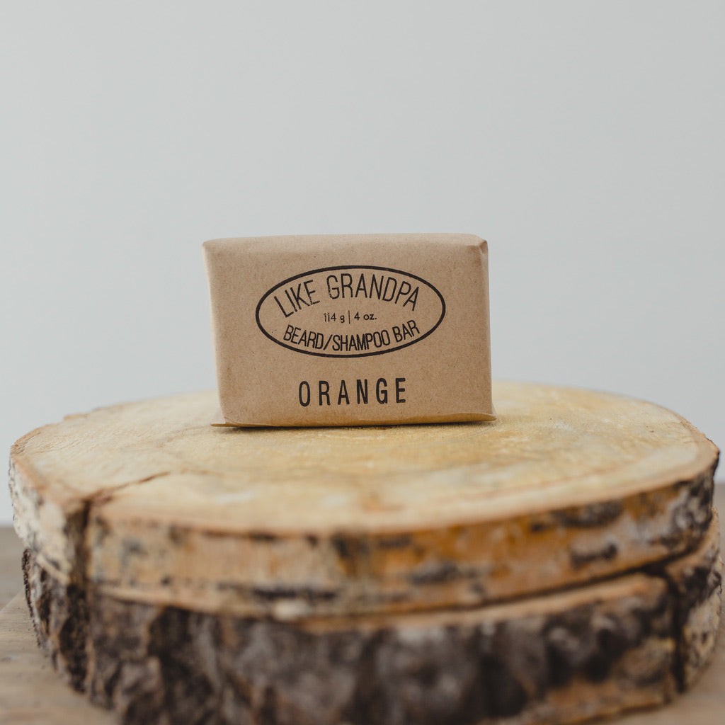 Natural Shampoo Bar. Orange scent.