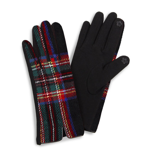 Tartan Plaid Smart Touch Gloves