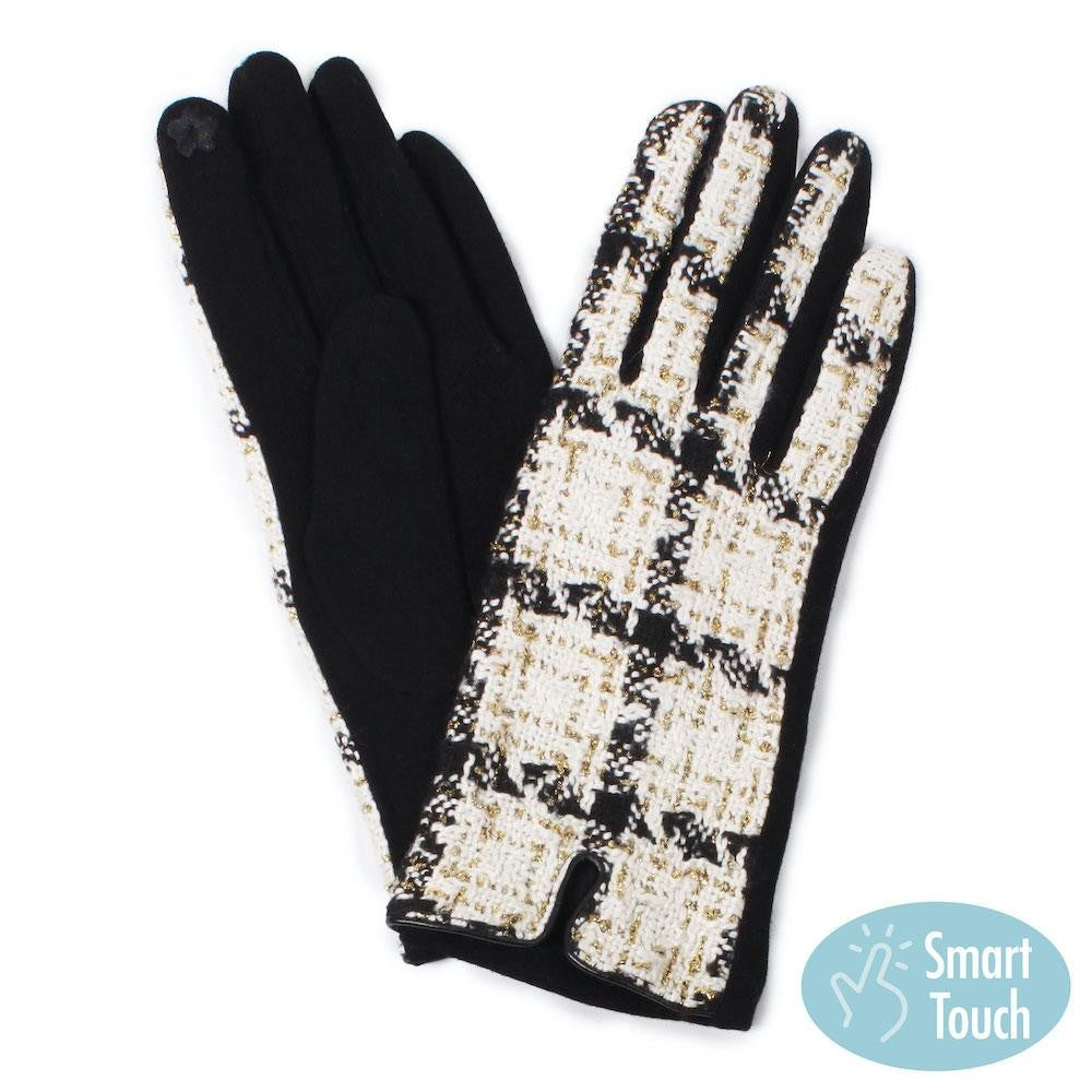 Ivory Tweed Smart Touch Gloves