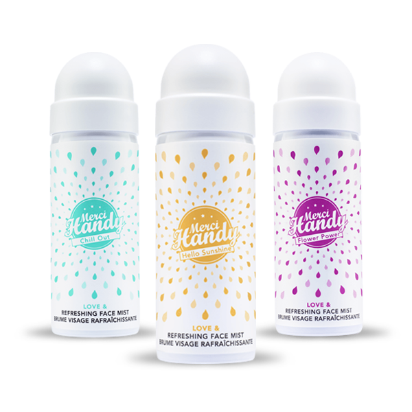 Brumas para el rostro : Chill Out, Hello Sunshine, Flower Power - Merci Handy