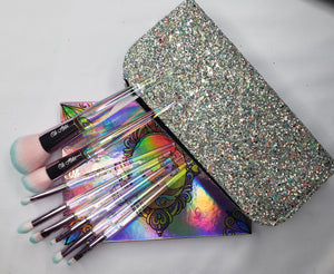 Oh Abbi brush set with glitter bag