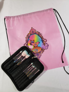 Oh Abbi brush set + pink bag (pre-order)