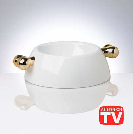 Atrium Classic Gold Dog Bowl