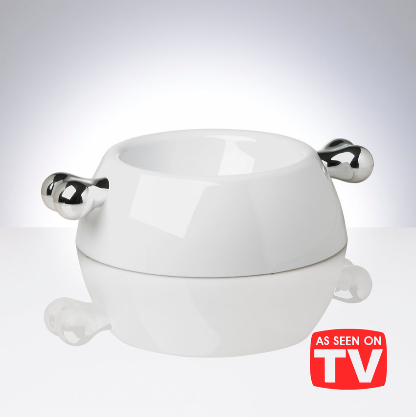Atrium Classic Platinum Dog Bowl