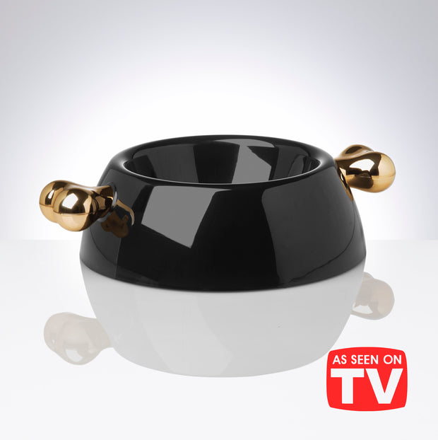 Atrium Signature Gold Dog Bowl