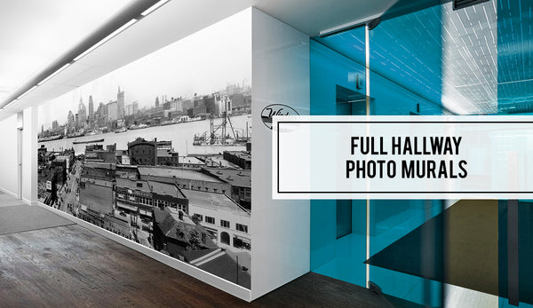 Windsor Prints Office Hallway Vintage Photo Mural
