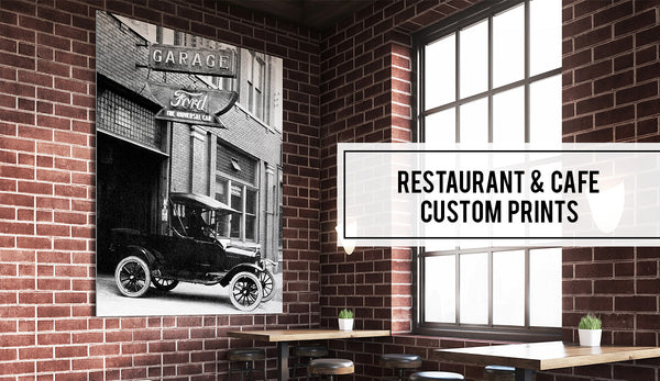 Windsor Prints Restaurant Cafe Custom Art Vintage Photo Prints Decor