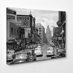 Cars on Ouellette Avenue (1950) - Downtown Windsor - Windsor Prints