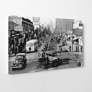 Traffic on Ouellette Avenue & Park Street (1940) - Downtown Windsor - Windsor Prints