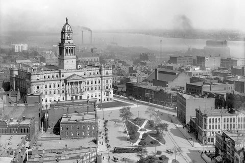 Aerial of Wayne County Building (1903)