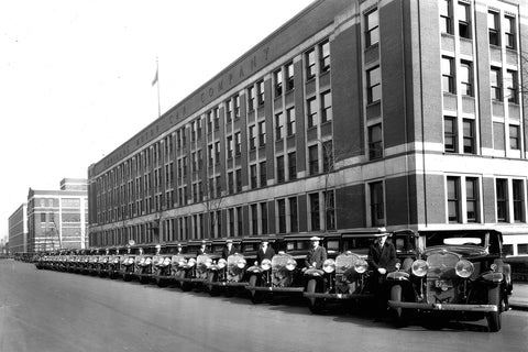 GM Cars on Display at Detroit Assembly Plant (1930)