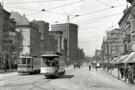 Looking North on Woodward Avenue (1905)