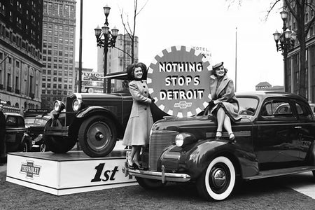 Nothing Stops Detroit Sign (1940's)