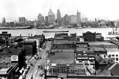 Aerial of Windsor & Detroit Skyline (1920) - Downtown Windsor