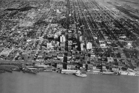 Aerial of Windsor (1929) - Downtown Windsor