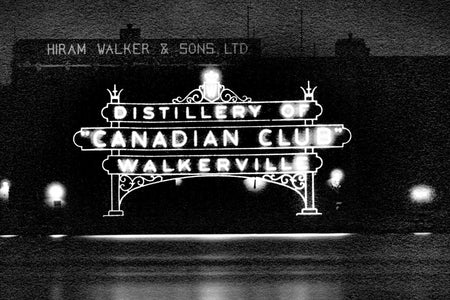 Canadian Club Sign on the River - Walkerville