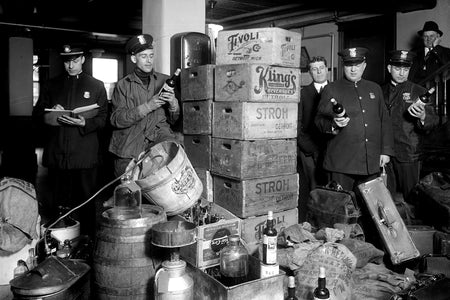 Detroit Police Prohibition Raid (1920's)