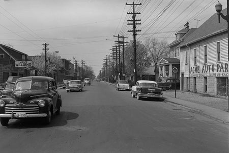 Erie Street Looking East (1958)