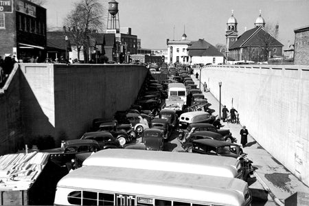 Ford Blockade on Drouillard Road Underpass (1945) - Ford City