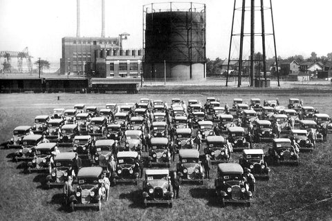 Image of Ford Cars Lined Up - Ford City