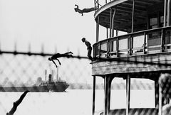 Kids Jumping Off Walkerville Ferry Into Detroit River (1930's)- Walkerville
