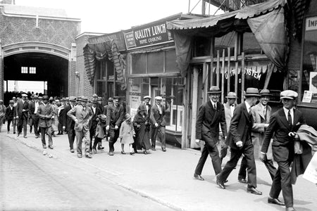 People Arriving Back in Windsor From The Ferry (1920) - Downtown Windsor