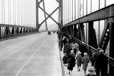 People Walk Across The Ambassador Bridge (1930)