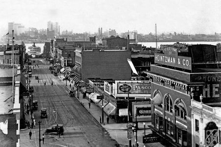 View Down Ouellette Avenue (1920) - Downtown Windsor